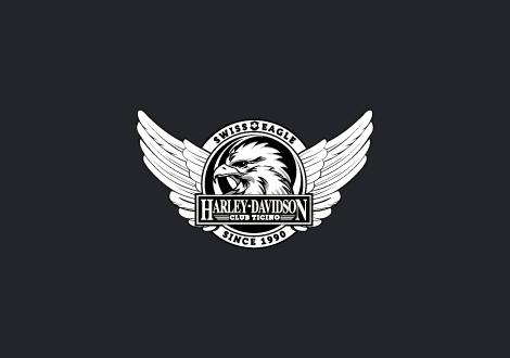 Logo e grafica Harley-Davidson Club Ticino